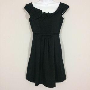BCBGMaxAzria Womens XS Black Cocktail Midi Dress